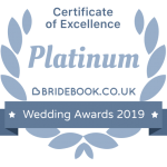 Platinum Bridebook Wedding Awards 2019 Badge of Excellence
