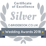Silver Bridebook Wedding Awards 2018 Badge of Excellence